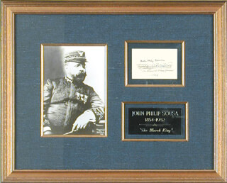 JOHN PHILIP THE MARCH KING SOUSA - AUTOGRAPH MUSICAL QUOTATION SIGNED 1928