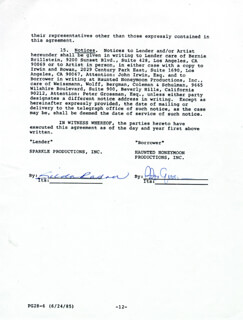 GILDA RADNER - DOCUMENT SIGNED 05/17/1985