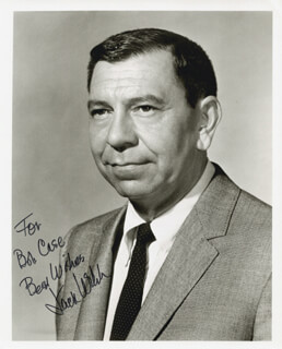 JACK WEBB - AUTOGRAPHED INSCRIBED PHOTOGRAPH