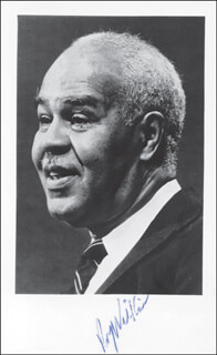 ROY WILKINS - AUTOGRAPHED SIGNED PHOTOGRAPH