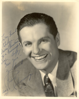 ROBERT BOB CUMMINGS - AUTOGRAPHED INSCRIBED PHOTOGRAPH 12/08/1941