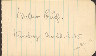 Autographs: WALTER BUCH - SIGNATURE(S) 12/28/1945
