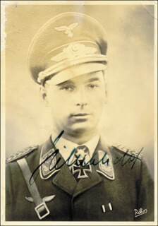 Autographs: MAJOR GENERAL HUBERTUS HITSCHOLD - PICTURE POST CARD SIGNED