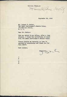 IRVING BERLIN - TYPED LETTER SIGNED 04/06/1970