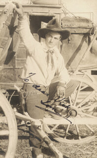 TOM MIX - INSCRIBED PICTURE POSTCARD SIGNED