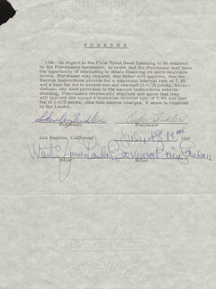 MARTIN LANDAU - DOCUMENT SIGNED 07/19/1968 CO-SIGNED BY: BARBARA BAIN