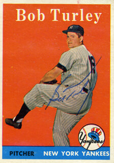 BOB TURLEY - TRADING/SPORTS CARD SIGNED
