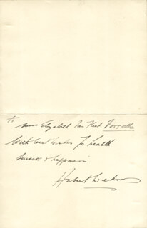 Autographs: SIR GEORGE HUBERT WILKINS - AUTOGRAPH NOTE SIGNED