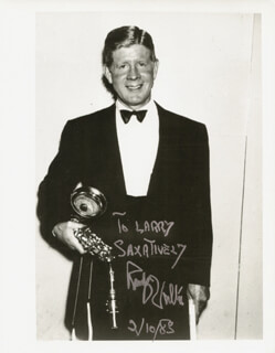 RUDY VALLEE - AUTOGRAPHED INSCRIBED PHOTOGRAPH 02/10/1983