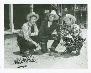 ROY ROGERS - AUTOGRAPHED SIGNED PHOTOGRAPH CO-SIGNED BY: MONTE HALE