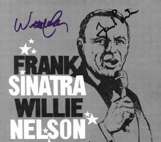FRANK SINATRA - PROGRAM SIGNED CO-SIGNED BY: WILLIE NELSON