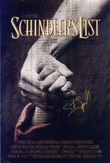 STEVEN SPIELBERG - AUTOGRAPHED SIGNED POSTER