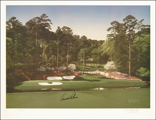ARNOLD PALMER - PRINTED ART SIGNED IN INK CO-SIGNED BY: DANNY DAY