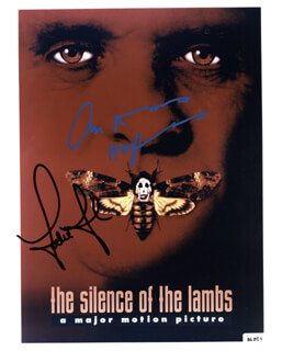 SILENCE OF THE LAMBS MOVIE CAST - AUTOGRAPHED SIGNED PHOTOGRAPH CO-SIGNED BY: ANTHONY HOPKINS, JODIE FOSTER