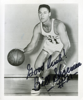 BILL SHARMAN - AUTOGRAPHED SIGNED PHOTOGRAPH