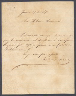 Lt. General Antonio Maceo Grajales Autographs 217693