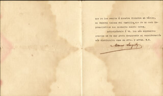 Autographs: COLONEL MANUEL SANGUILY GARRITE - TYPED LETTER SIGNED 03/01/1911