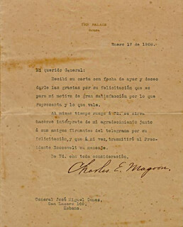 GOVERNOR CHARLES EDWARD MAGOON - TYPED LETTER SIGNED 01/17/1908