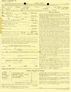 LENNY BRUCE - CONTRACT SIGNED 09/18/1958