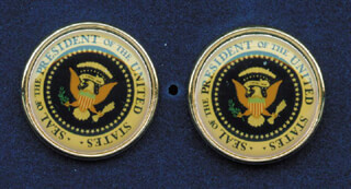PRESIDENT GEORGE H.W. BUSH - CUFFLINKS UNSIGNED