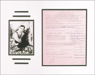 BUSBY BERKELEY - ANNOTATED DOCUMENT SIGNED 01/02/1963