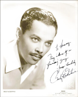 BILLY ECKSTINE - AUTOGRAPHED INSCRIBED PHOTOGRAPH