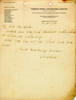 GEORGE WASHINGTON CARVER - AUTOGRAPH LETTER SIGNED 05/30/1932