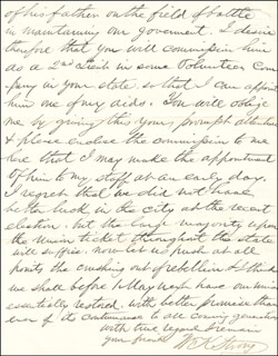 GENERAL WILLIAM K. STRONG - AUTOGRAPH LETTER SIGNED 11/12/1861