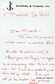 FIRST LADY JACQUELINE B. KENNEDY - AUTOGRAPH LETTER SIGNED