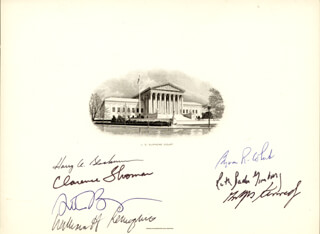 THE WILLIAM H. REHNQUIST COURT - SUPREME COURT ENGRAVING SIGNED CO-SIGNED BY: ASSOCIATE JUSTICE BYRON R. WHITE, ASSOCIATE JUSTICE ANTHONY M. KENNEDY, ASSOCIATE JUSTICE CLARENCE THOMAS, ASSOCIATE JUSTICE RUTH BADER GINSBURG, CHIEF JUSTICE WILLIAM H. REHNQUIST, ASSOCIATE JUSTICE HARRY A. BLACKMUN, ASSOCIATE JUSTICE STEPHEN BREYER