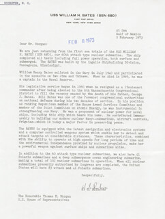 ADMIRAL HYMAN G. RICKOVER - TYPED LETTER SIGNED