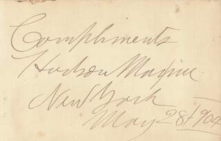 HUDSON MAXIM - AUTOGRAPH 05/28/1904 CO-SIGNED BY: THOMAS W. HIGGINSON