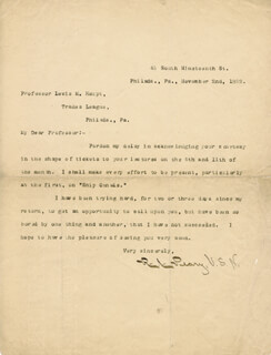 ADMIRAL ROBERT E. PEARY - TYPED LETTER SIGNED