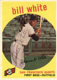 BILL WHITE - TRADING/SPORTS CARD SIGNED