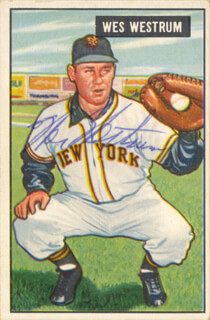 WES WESTRUM - TRADING/SPORTS CARD SIGNED