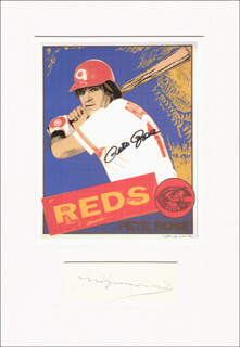 Autographs: PETE ROSE - PRINTED ART SIGNED IN INK CO-SIGNED BY: ANDY WARHOL
