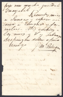 MAJOR GENERAL JOSE MODESTO RODRIGUEZ - AUTOGRAPH LETTER SIGNED 12/02/1898