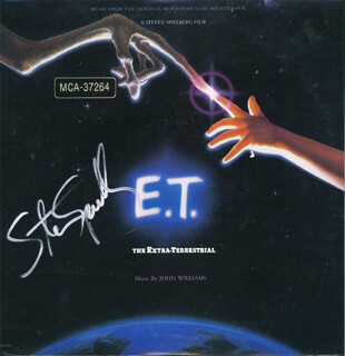 STEVEN SPIELBERG - RECORD ALBUM COVER SIGNED