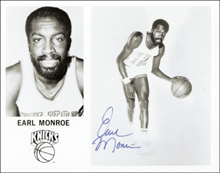 EARL THE PEARL MONROE - AUTOGRAPHED SIGNED PHOTOGRAPH