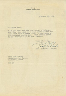 Autographs: PEARL S. BUCK - TYPED LETTER SIGNED 02/26/1953