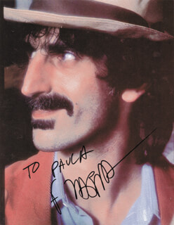 FRANK ZAPPA - INSCRIBED PICTURE POSTCARD SIGNED CIRCA 1992  - HFSID 218215