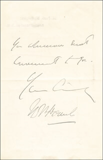Autographs: FIELD MARSHAL JOHN DENTON PINKSTONE FRENCH - AUTOGRAPH LETTER SIGNED