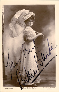 BILLIE BURKE - PICTURE POST CARD SIGNED