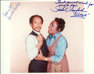 THE JEFFERSONS TV CAST - AUTOGRAPHED SIGNED PHOTOGRAPH CO-SIGNED BY: SHERMAN HEMSLEY, ISABEL WEEZY SANFORD