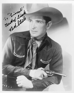 BOB STEELE - AUTOGRAPHED INSCRIBED PHOTOGRAPH