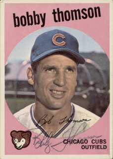 BOBBY THOMSON - TRADING/SPORTS CARD SIGNED CIRCA 1959