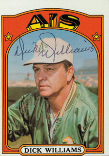 DICK WILLIAMS - TRADING/SPORTS CARD SIGNED