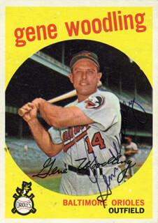 GENE WOODLING - TRADING/SPORTS CARD SIGNED