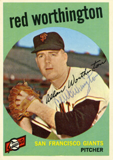 AL RED WORTHINGTON - TRADING/SPORTS CARD SIGNED