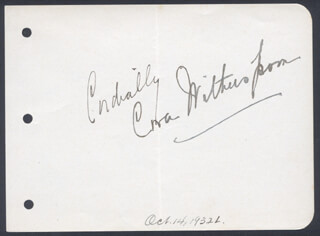 CORA WITHERSPOON - AUTOGRAPH SENTIMENT SIGNED CIRCA 1932